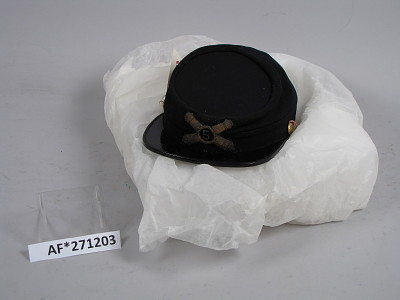 Kepi worn by Henry S. Gansevoort while a Captain, 5th US Artillery