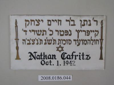 Nathan Cafritz / Oct. 1. 1942