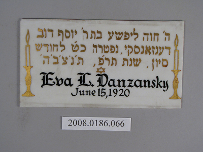Eva L. Danzansky / June 15, 1920