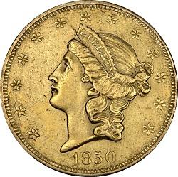20 Dollars, United States, 1850