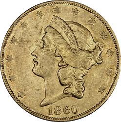 20 Dollars, United States, 1860