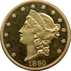 20 Dollars, Proof, United States, 1860