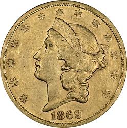 20 Dollars, United States, 1862