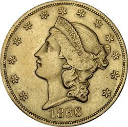 20 Dollars, United States, 1866