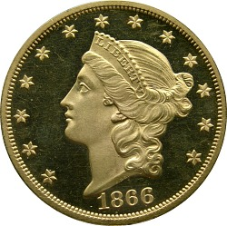 20 Dollars, Proof, United States, 1866