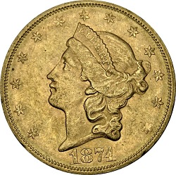 20 Dollars, United States, 1874