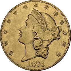 20 Dollars, United States, 1876