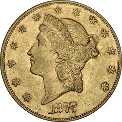 20 Dollars, United States, 1877