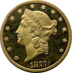 20 Dollars, Proof, United States, 1877