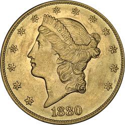 20 Dollars, United States, 1880