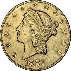 20 Dollars, United States, 1882