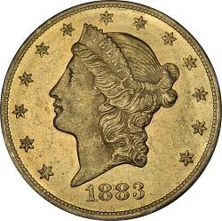 20 Dollars, United States, 1883