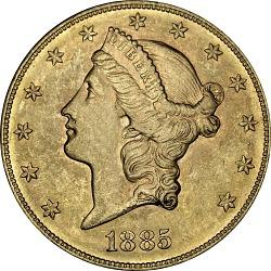 20 Dollars, United States, 1885