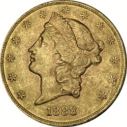20 Dollars, United States, 1888