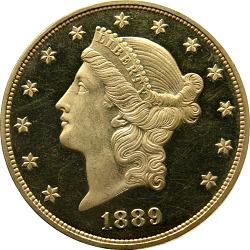 20 Dollars, Proof, United States, 1889