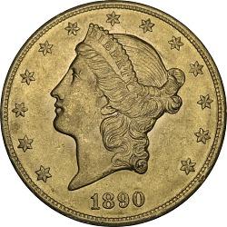 20 Dollars, United States, 1890