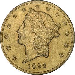20 Dollars, United States, 1892