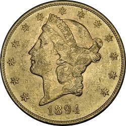 20 Dollars, United States, 1894