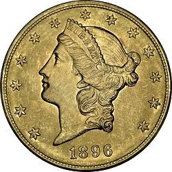 20 Dollars, United States, 1896
