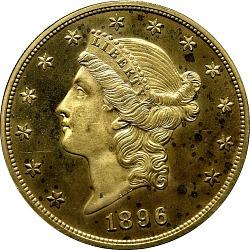 20 Dollars, Proof, United States, 1896