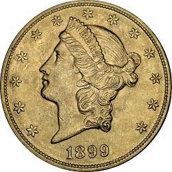 United States, 20 Dollars, 1899