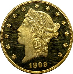 20 Dollars, United States, 1899