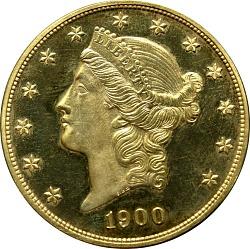 United States, 20 Dollars, 1900