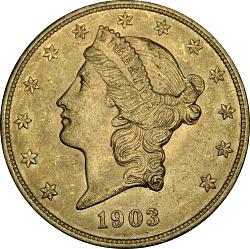 United States, 20 Dollars, 1903