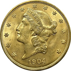 20 Dollars, United States, 1904