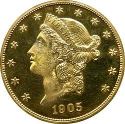 20 Dollars, United States, 1905