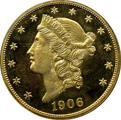 United States, 20 Dollars, 1906