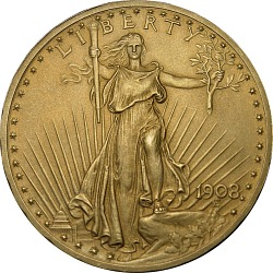 20 Dollars, United States, 1908 (Matte Proof)