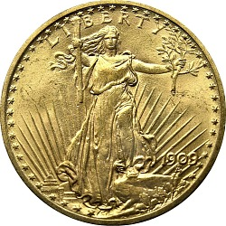 United States, 20 Dollars, 1909