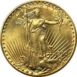20 Dollars, United States, 1910