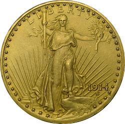 United States, 20 Dollars, 1914