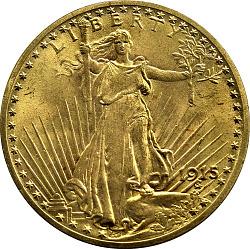 20 Dollars, United States, 1915