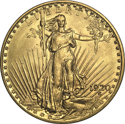United States, 20 Dollars, 1920