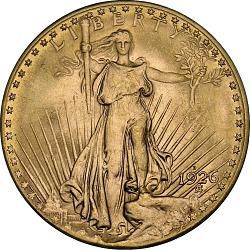 20 Dollars, United States, 1926-D