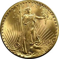 United States, 20 Dollars, 1931
