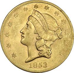 20 Dollars, United States, 1853