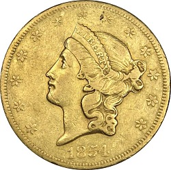 20 Dollars, United States,1854