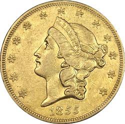 20 Dollars,United States, 1855