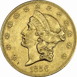 20 Dollars, United States, 1856