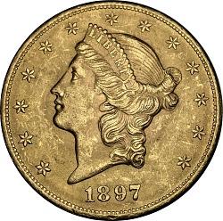 United States, 20 Dollars, 1897