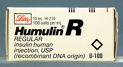 Humulin R, REGULAR