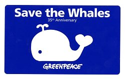 """""""Save the Whales"""" Greenpeace Sticker"""