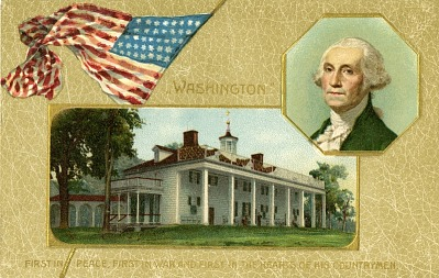 Mount Vernon postcard Printed in Germany, ca. 1906