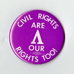 """Button, """"Civil Rights Are Our Rights Too!"""""""