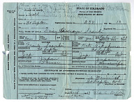 Birth Certificate for Daisy Sasaki