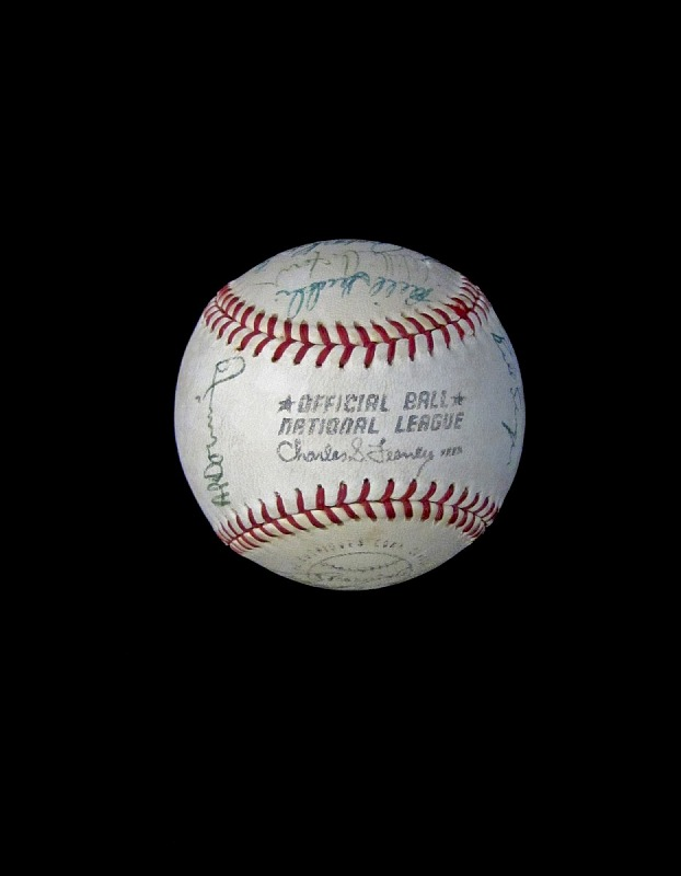 Image 1 for Baseball, signed by the 1971 Los Angeles Dodgers